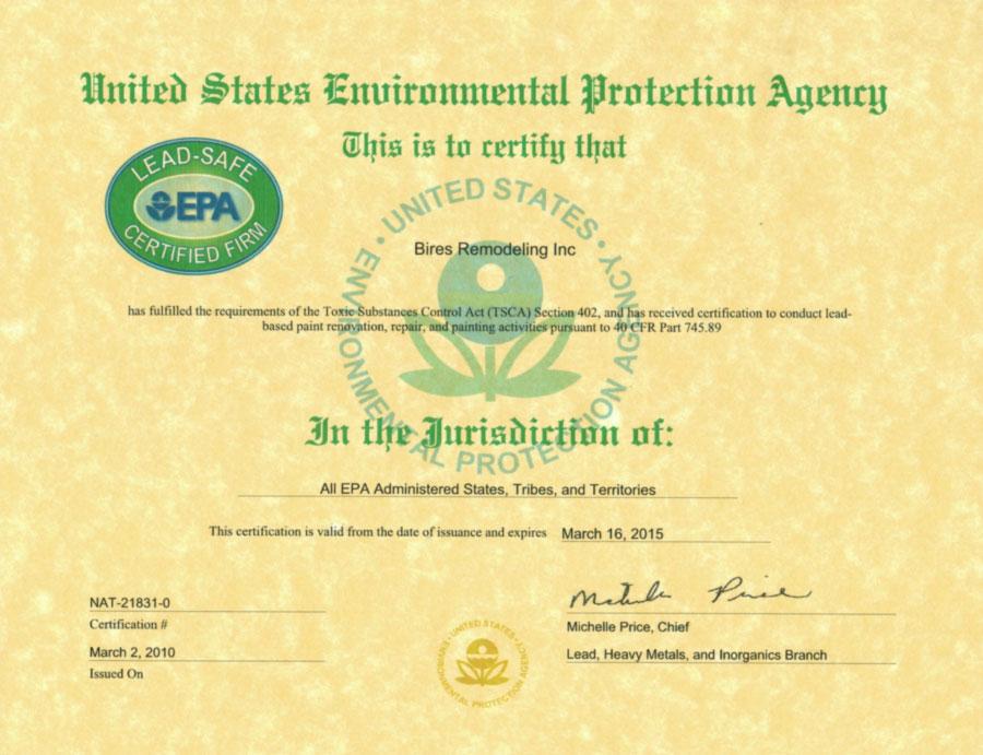 Epa Universal Refrigerant Certificationepa Refrigerant